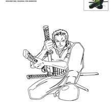 Dibujo para colorear ZORO - Dibujos para Colorear y Pintar - Dibujos para colorear MANGA - Dibujos para colorear ONE PIECE