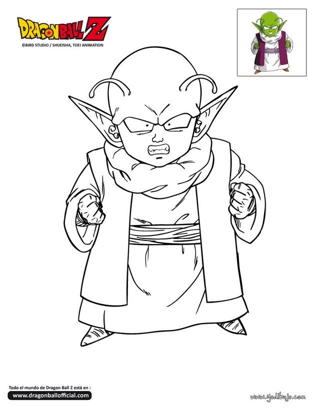 Dibujos para colorear DRAGON BALL Z - 20 dibujos manga para colorear ...