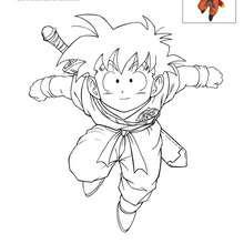 Dibujo para colorear GOANDA - Dibujos para Colorear y Pintar - Dibujos para colorear MANGA - Dibujos para colorear DRAGON BALL Z