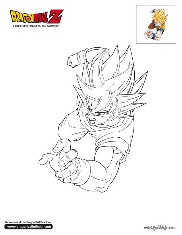 Dibujo para colorear : SON GOKU