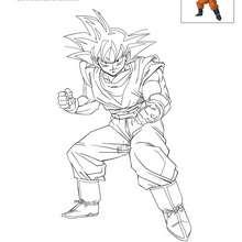 Dibujo para colorear GOKU - Dibujos para Colorear y Pintar - Dibujos para colorear MANGA - Dibujos para colorear DRAGON BALL Z