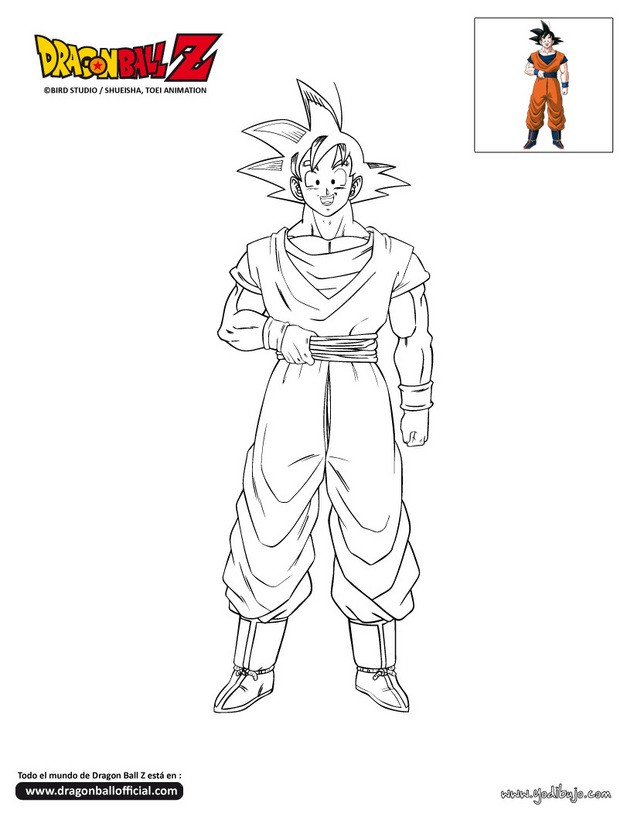Dibujos para colorear goku - es.hellokids.com
