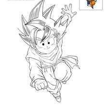 Dibujo para colorear SON GOTEN - Dibujos para Colorear y Pintar - Dibujos para colorear MANGA - Dibujos para colorear DRAGON BALL Z