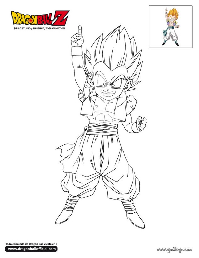 Dragon Ball Z Gotenks Coloring Pages