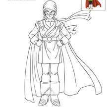 Dibujo para colorear GUERRERO INTERGALÁCTICO - Dibujos para Colorear y Pintar - Dibujos para colorear MANGA - Dibujos para colorear DRAGON BALL Z