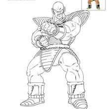 Dibujo para colorear NAPA - Dibujos para Colorear y Pintar - Dibujos para colorear MANGA - Dibujos para colorear DRAGON BALL Z