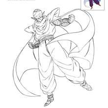 Dibujo para colorear PICCOLO - Dibujos para Colorear y Pintar - Dibujos para colorear MANGA - Dibujos para colorear DRAGON BALL Z