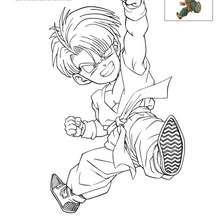 Dibujo para colorear TRUNK - Dibujos para Colorear y Pintar - Dibujos para colorear MANGA - Dibujos para colorear DRAGON BALL Z