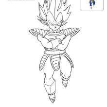 Dibujo de VEGETA para colorear - Dibujos para Colorear y Pintar - Dibujos para colorear MANGA - Dibujos para colorear DRAGON BALL Z