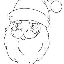 Dibujo para colorear : retrato de Papa Noel