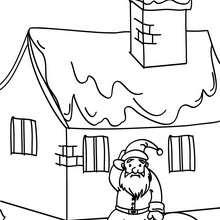 Dibujo de Papa Noel sentado para colorear - Dibujos para Colorear y Pintar - Dibujos para colorear FIESTAS - Dibujos para colorear de NAVIDAD - Dibujos para colorear de PAPA NOEL - Dibujos para colorear PAPA NOEL online