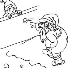 Dibujo de Papa Noel jugandocon niños - Dibujos para Colorear y Pintar - Dibujos para colorear FIESTAS - Dibujos para colorear de NAVIDAD - Dibujos para colorear de PAPA NOEL - Dibujos para colorear PAPA NOEL online