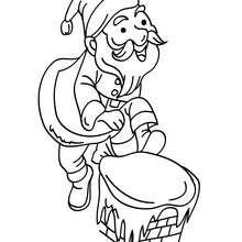 Dibujo para colorear Papa Noel muy feliz - Dibujos para Colorear y Pintar - Dibujos para colorear FIESTAS - Dibujos para colorear de NAVIDAD - Dibujos para colorear de PAPA NOEL - Dibujos para colorear PAPA NOEL online