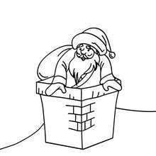 Dibujo de Papa Noel distribuyendo sus regalos navideños - Dibujos para Colorear y Pintar - Dibujos para colorear FIESTAS - Dibujos para colorear de NAVIDAD - Dibujos para colorear de PAPA NOEL - Dibujos para colorear PAPA NOEL online