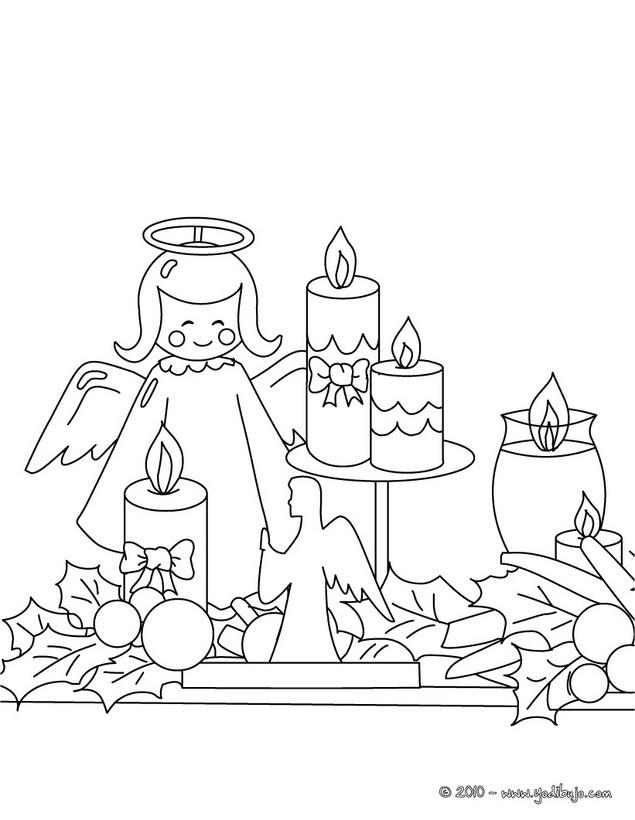 dibujo para colorear velas y angle navideo dibujos para colorear y pintar dibujos para