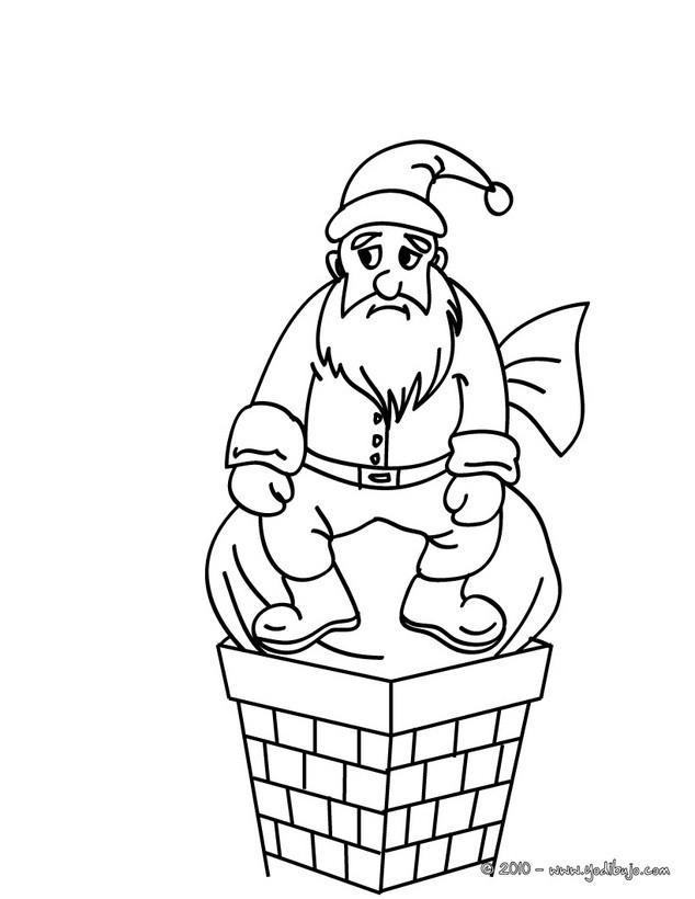 Dibujos para colorear de PAPA NOEL - 58 imágenes navideñas para ...