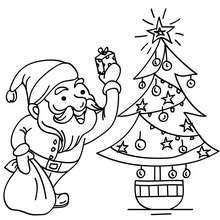 Santa Claus con arbol de navidad