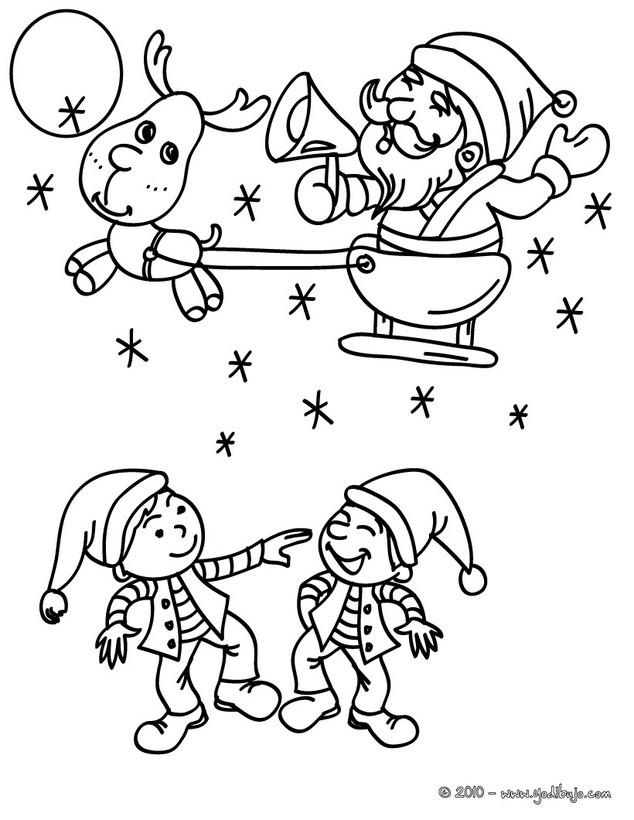 Dibujos para colorear santa claus con su trineo navideño - es ...
