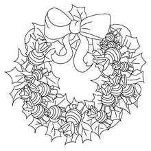 corona de navidad con chuches para navidad