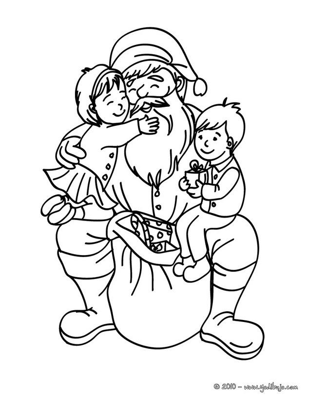 Dibujos para colorear SANTA CLAUS - 24 imágenes navideñas para ...