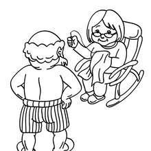 Dibujo de Santa Claus Con su esposa para colorear - Dibujos para Colorear y Pintar - Dibujos para colorear FIESTAS - Dibujos para colorear de NAVIDAD - Dibujos para colorear SANTA CLAUS - SANTA CLAUS niños para colorear