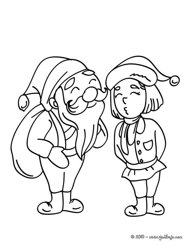 Dibujos para colorear santa claus leyendo una carta de navidad - es ...