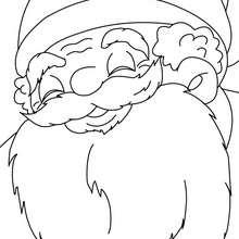 Dibujo para colorear : Papa Noel sonriendo para coloreeasr
