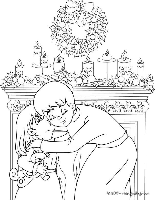 Dibujos para colorear cariño en familia - es.hellokids.com