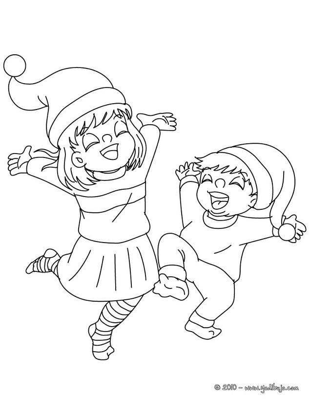 Dibujos para colorear felicidad navideña - es.hellokids.com