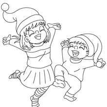 Dibujo para colorear : Felicidad navideña