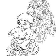 Dibujo para colorear : Me pido una bici