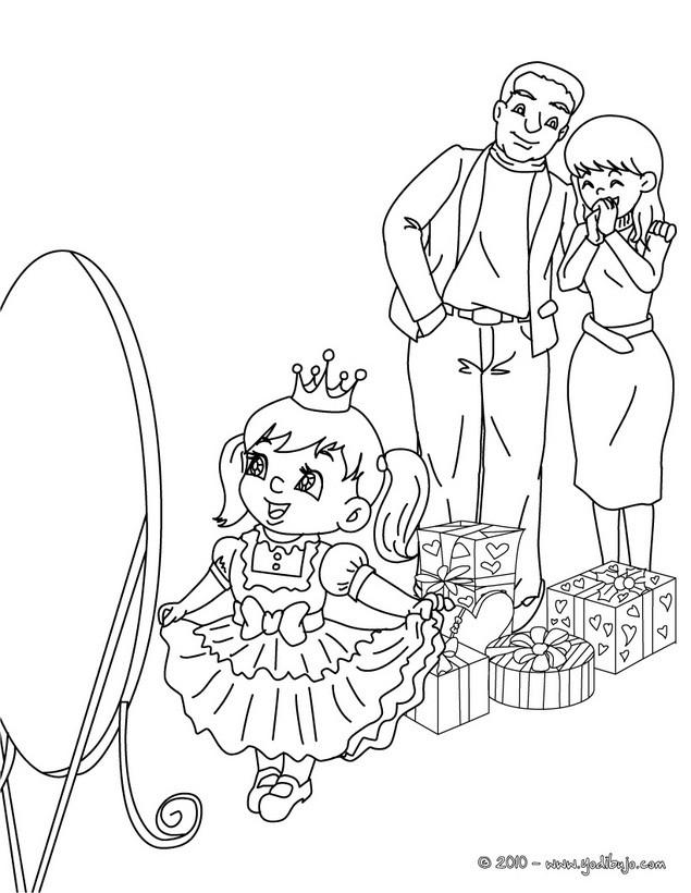 Dibujos Para Colorear Navidad En Familia Es Hellokids Com