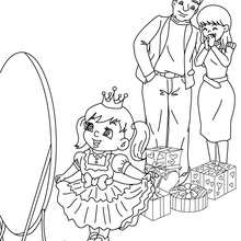 Dibujo para colorear : Navidad en Familia