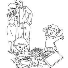 Dibujo para colorear : Padres y hijos