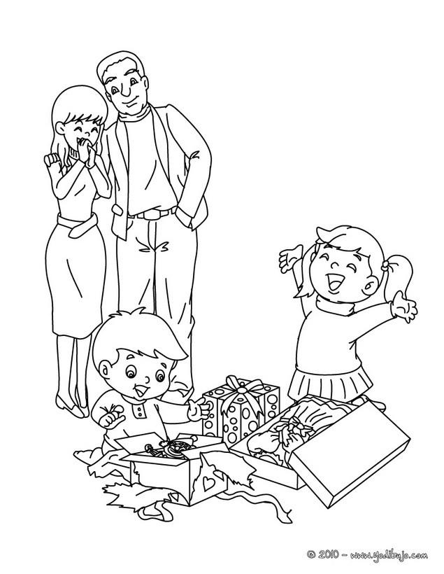 Dibujos para colorear padres y hijos - es.hellokids.com