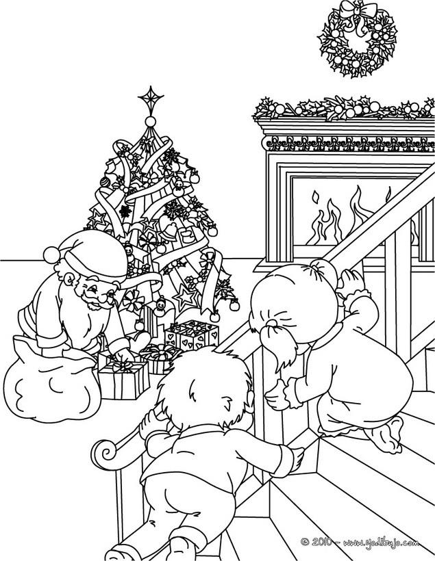 Dibujos para colorear santa claus está aquí - es.hellokids.com