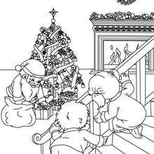 Dibujo para colorear : Santa Claus está aquí