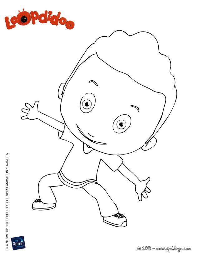 ... de BASIL feliz para colorear - Dibujos para colorear del niño BASIL
