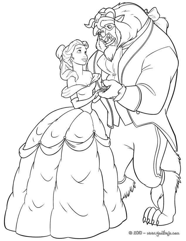Dibujos para colorear baile de la bestia  eshellokidscom