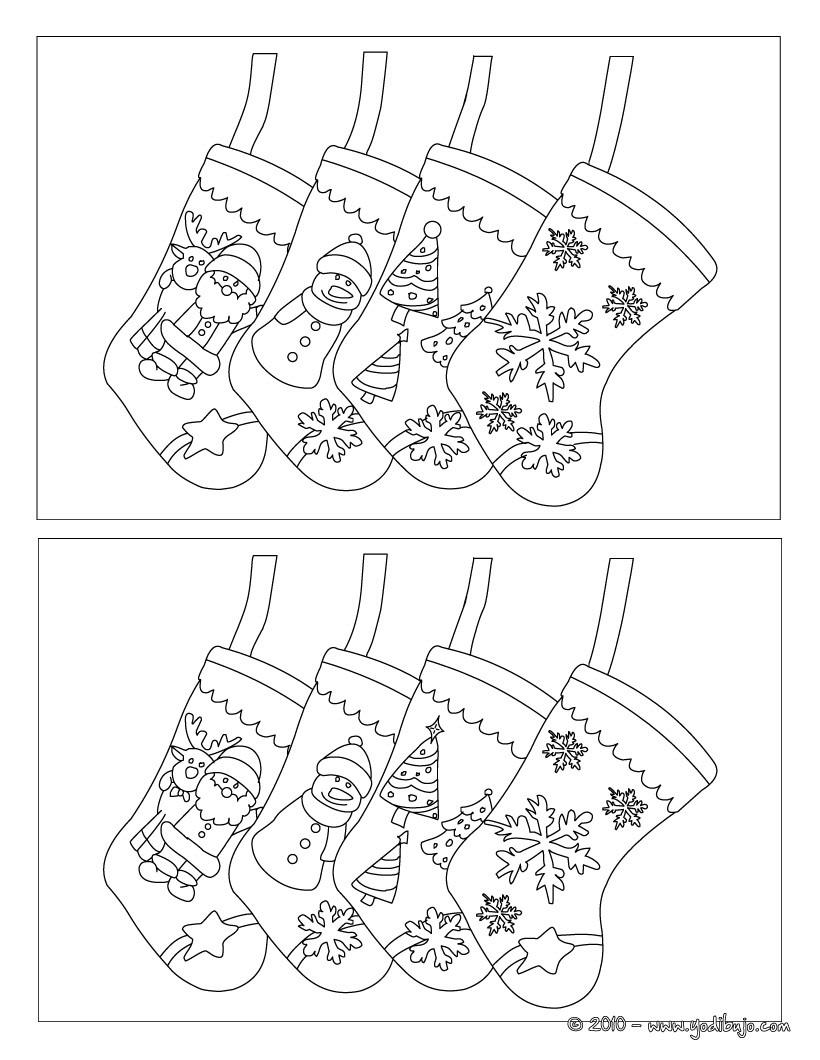 Juegos gratuitos de calcetines de navidad busca las 5 diferencias