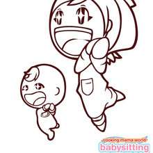 Mama de babysitting mama para wii coloring page - Dibujos para Colorear y Pintar - Dibujos para colorear PERSONAJES - Dibujos para colorear y pintar PERSONAJES - COOKING MAMA WORLD para colorear - BABYSITTING MAMA Nintendo DS para colorear