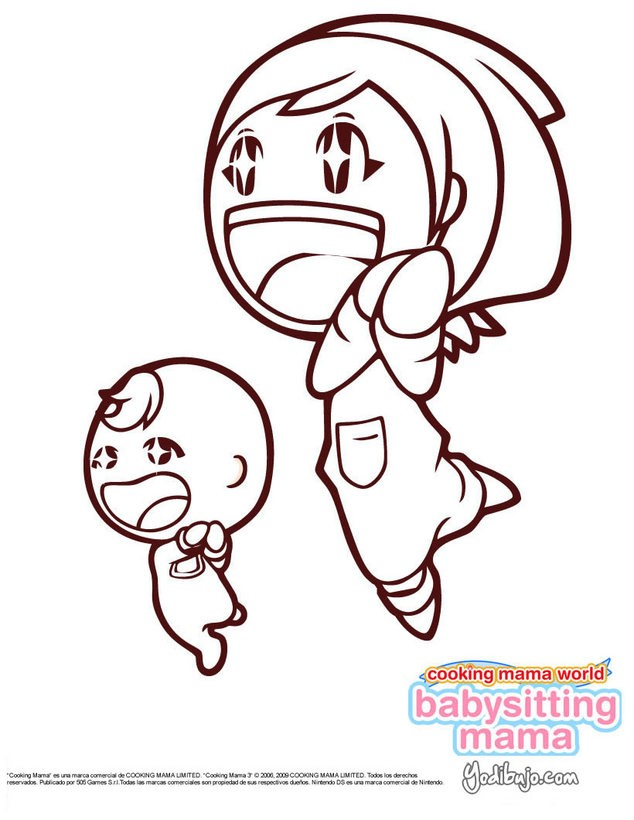 BABYSITTING MAMA Nintendo DS para colorear - 6 dibujos gratis para ...