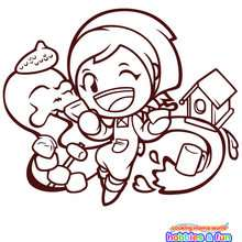 Cooking mama con sus manualidades para colorear - Dibujos para Colorear y Pintar - Dibujos para colorear PERSONAJES - Dibujos para colorear y pintar PERSONAJES - COOKING MAMA WORLD para colorear - COOKING MAMA HOBBIES Y MANUALIDADES para colorear