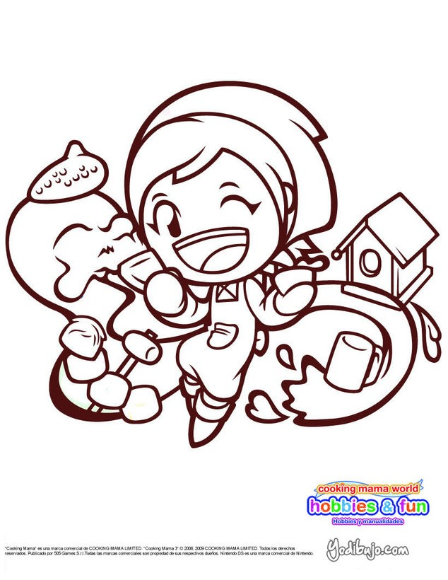 COOKING MAMA HOBBIES Y MANUALIDADES para colorear - 4 dibujos gratis ...