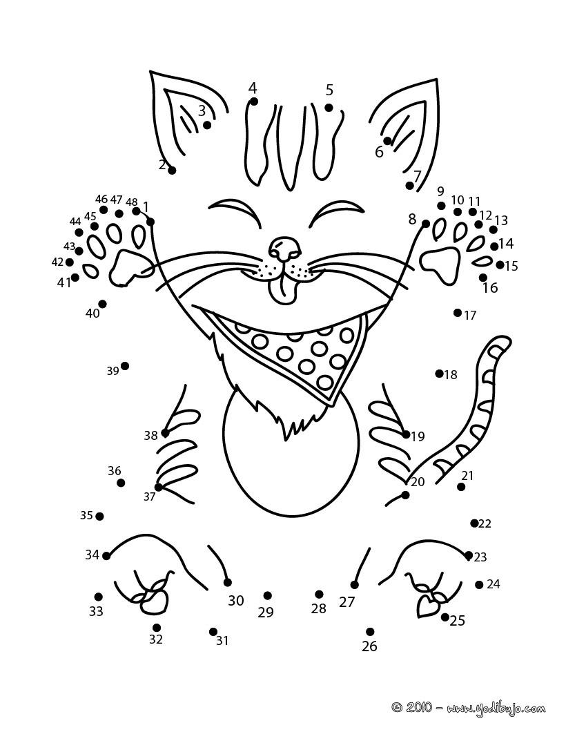 Juegos gratuitos de gato unir puntos - es.hellokids.com