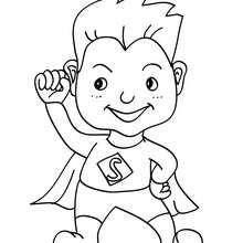 Dibujo para colorear DISFRAZ SUPERMAN - Dibujos para Colorear y Pintar - Dibujos para colorear FIESTAS - Dibujos para colorear CARNAVAL - Dibujos DISFRACES CARNAVAL para colorear - Dibujos DISFRAZ NIÑO para colorear