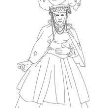 Dibujo de personaje mujer Carnaval de Venecia para colorear - Dibujos para Colorear y Pintar - Dibujos para colorear FIESTAS - Dibujos para colorear CARNAVAL - Dibujos CARNAVAL VENECIA para colorear