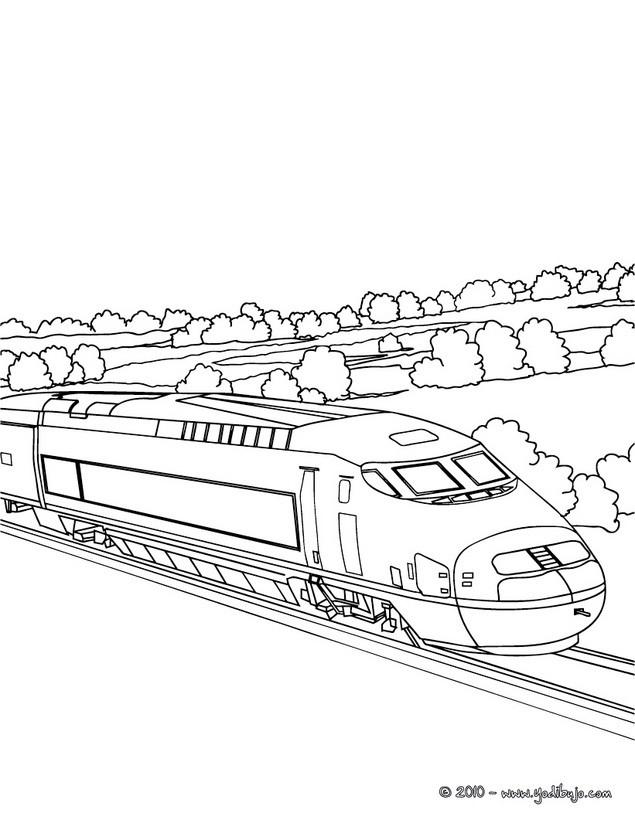 Dibujos para colorear tren ave - es.hellokids.com