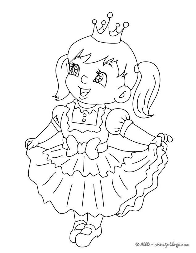 Dibujos para colorear vestido de infanta - es.hellokids.com