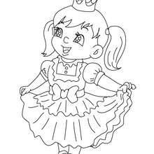 Dibujo para colorear : Vestido de Infanta